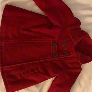 Red girls pea coat
